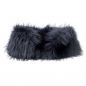 Preview: Stretch Stole Made of Black Silver Fox Fur