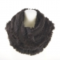 Preview: brown Loop Scarf made of Fur and Knitwear