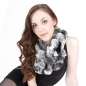 Preview: Chinchilla Rabbit Fur Loop Scarf