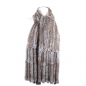 Preview: Fringed Rabbit Fur Scarf or Waistcoat without Back Part