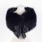 Preview: Fur Stole with Silk Ribbon