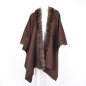 Preview: Cape Made of Cashmere and Sable Fur, brown:
