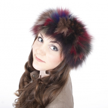 Multi-coloured Fur Headband