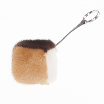 Cubic Pendant made of Mink Fur