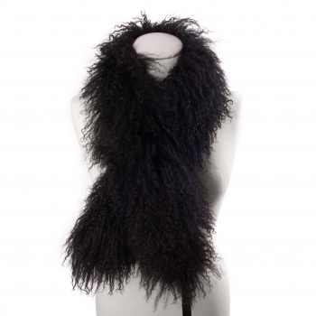 Lambswool Scarf, black