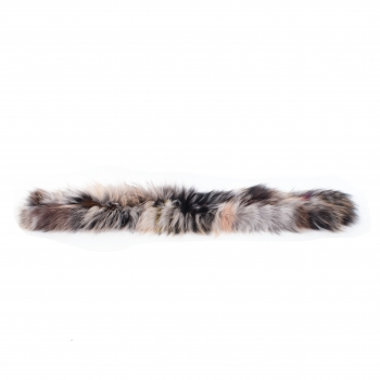 Fluffy Fox Fur Scarf – Tinted Fur Scarf