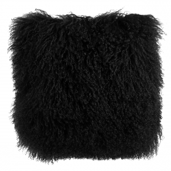 Shaggy Cushion, black