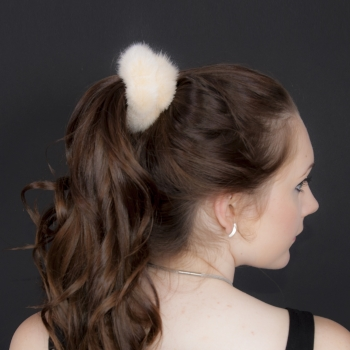 Fur Scrunchie, Fur Wristlet, Sable Bracelet