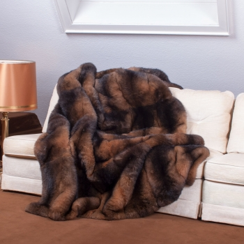 Brown Opossum Fur Blanket – A Classic