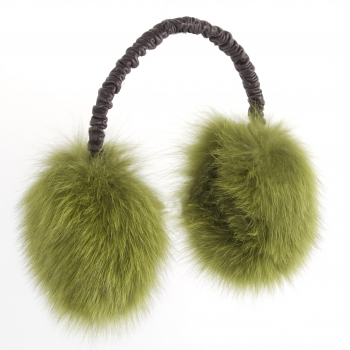 "Ear Muffs ""Fluffy Fox"" green"