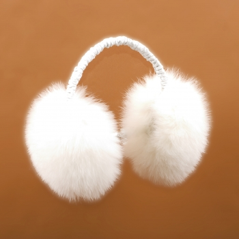 "Ear Muffs ""Fluffy Fox"" white"