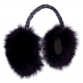 "Ear Muffs ""Fluffy Fox"" black"