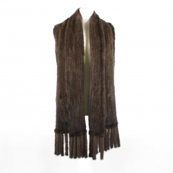 DvW Mink-Knitwear Stole, brown