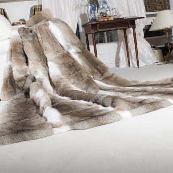 Long-haired Rabbit Fur Blanket Selvatico