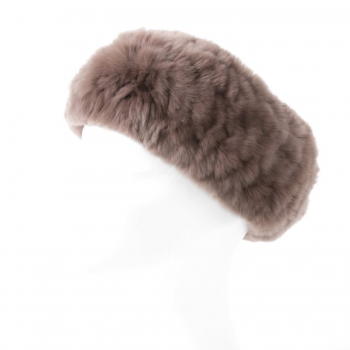 Rabbit Fur Headband, pine-bark