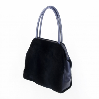 "Midnight Blue Mink Bag ""Salzburg"""