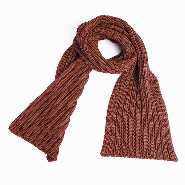 Knitted Scarf, brown