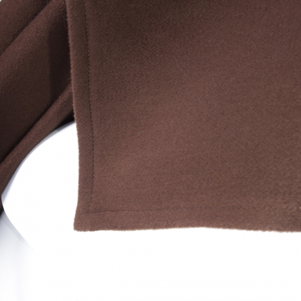 Cape Made of Cashmere and Sable Fur, brown: