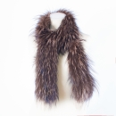 Brown Scarf  and Loop made of Silverfox Fur