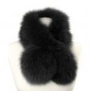 Fox Fur Collar, black